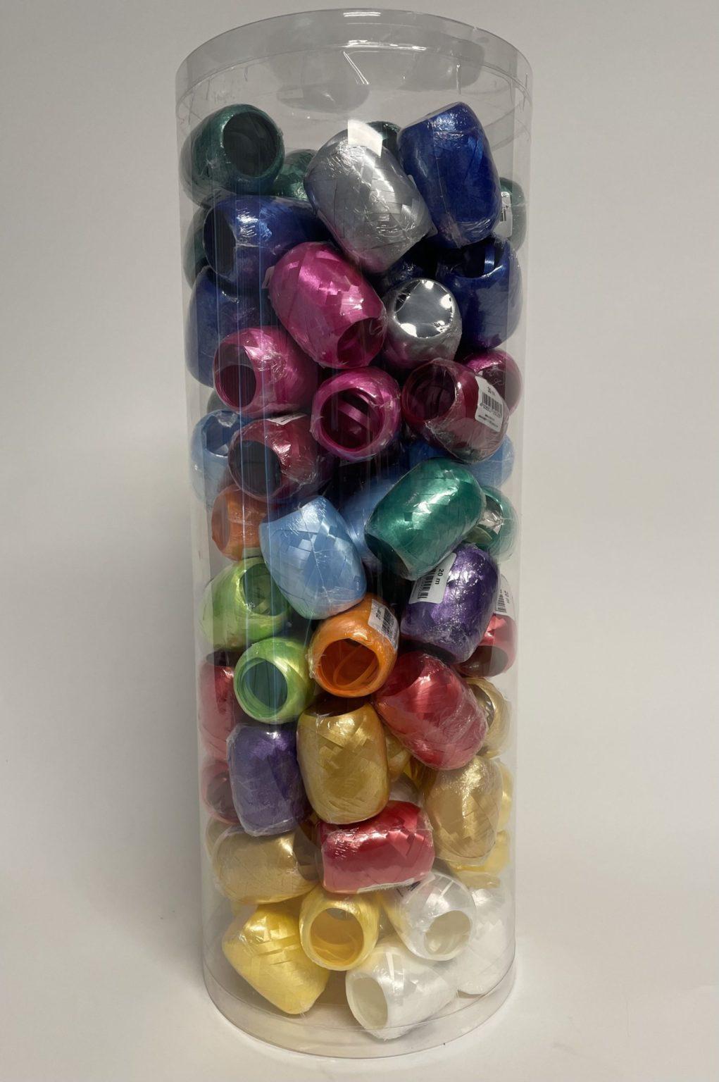 Kräuselband Set verschiedene Farben - 100 Stück