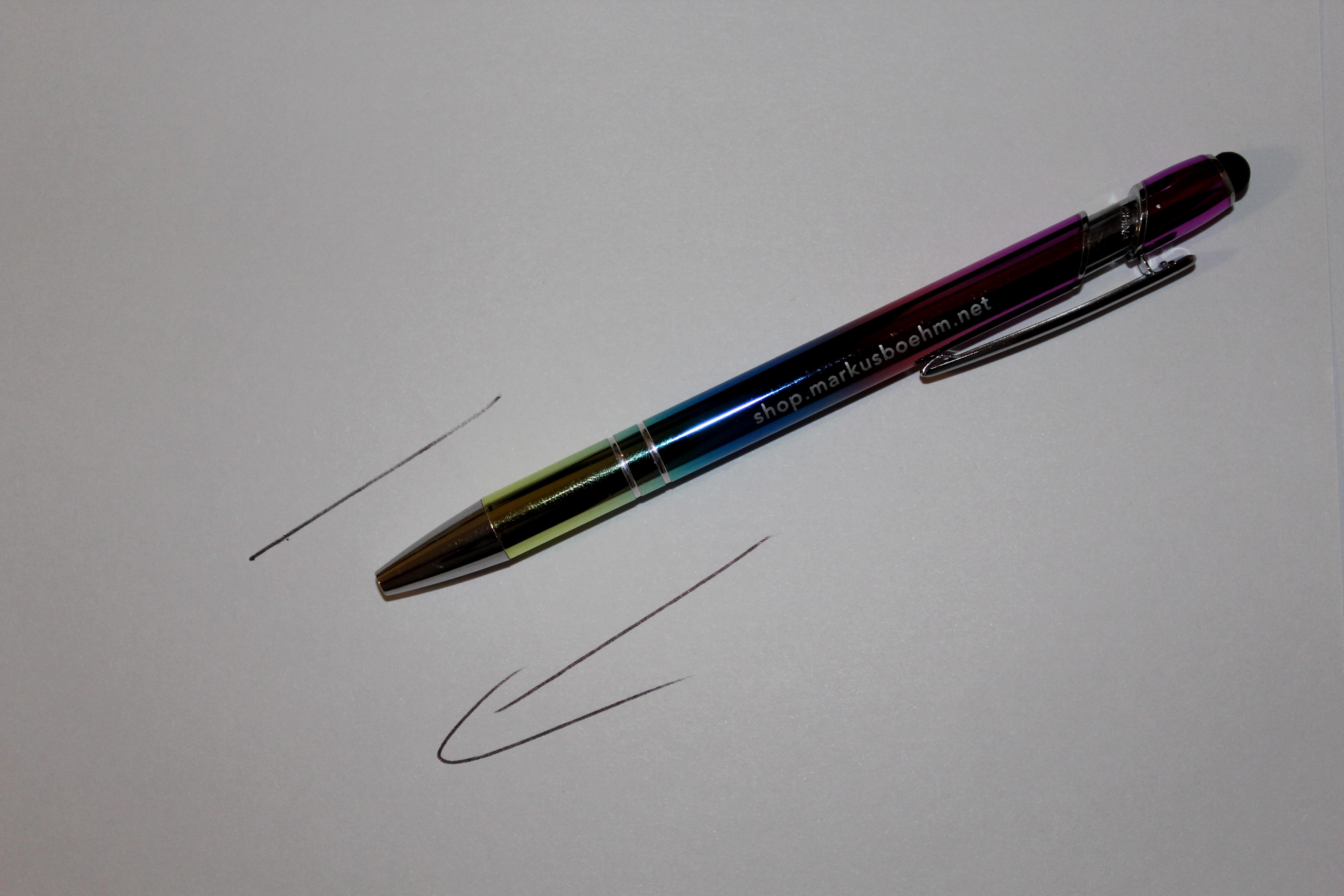"Fankugelschreiber ""Regenbogenfarben"""